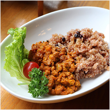 長岡式酵素玄米にカレー ¥800