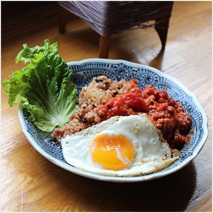 長岡式酵素玄米ロコモコ風 ¥800